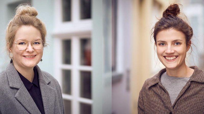 Marcella Fassio (rechts) ist die erste Teilnehmerin  des Projekts PraxisPromotion. Betreut wird es von Dr. Jasmin Overberg (links) (Quelle: IHJO / Hendrik Reinert)
