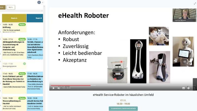 Ein Vortrag auf der virtuellen Konferenz (Quelle: RIGL Fulda)