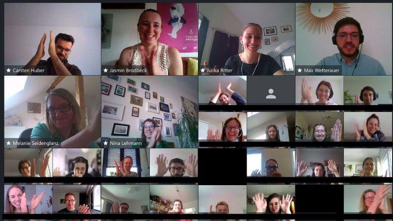 Die Teilnehmenden des EduThon-Finale (Quelle: TransferTogether)